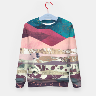 Magenta Mountain Kid's sweater Bild der Miniatur