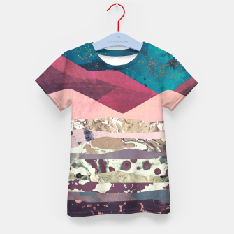 Magenta Mountain Kid's t-shirt Bild der Miniatur