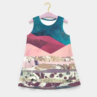 Miniaturka Magenta Mountain Girl's summer dress, Live Heroes