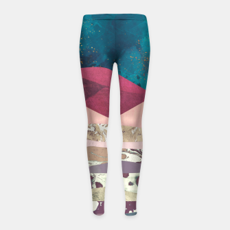 Magenta Mountain Girl's leggings Bild der Miniatur