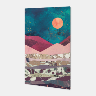 Magenta Mountain Canvas Bild der Miniatur