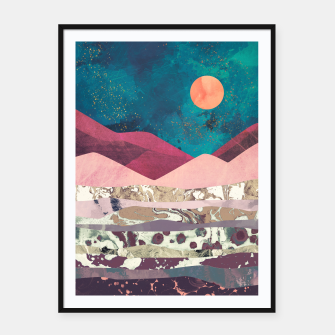 Magenta Mountain Framed poster miniature