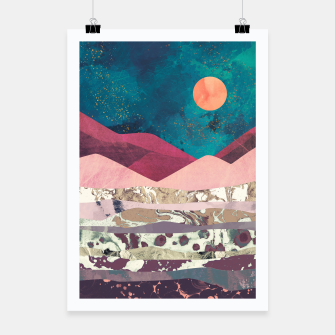 Magenta Mountain Poster miniature