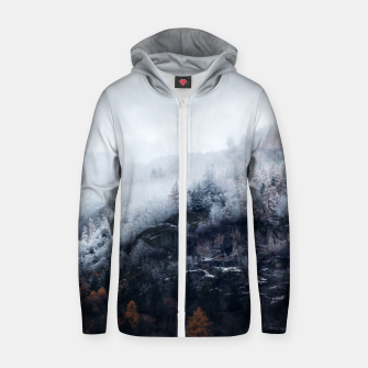 Thumbnail image of On the Verge of Winter Cotton zip up hoodie, Live Heroes