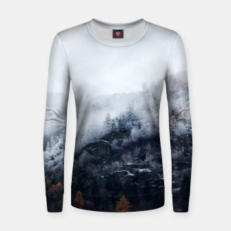 Thumbnail image of On the Verge of Winter Woman cotton sweater, Live Heroes