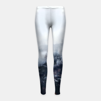 Thumbnail image of On the Verge of Winter Girl's leggings, Live Heroes