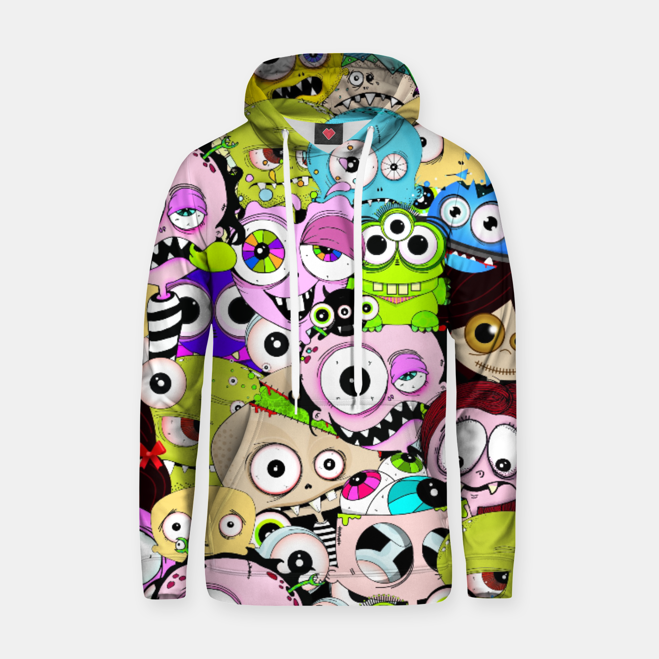 Image of Raro Collage Cotton hoodie - Live Heroes