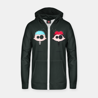 Thumbnail image of Lovers Cotton zip up hoodie, Live Heroes