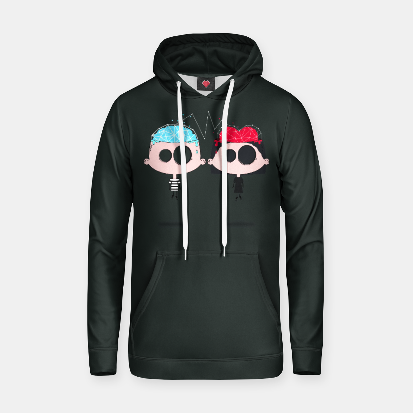 Image of Couple Cotton hoodie - Live Heroes
