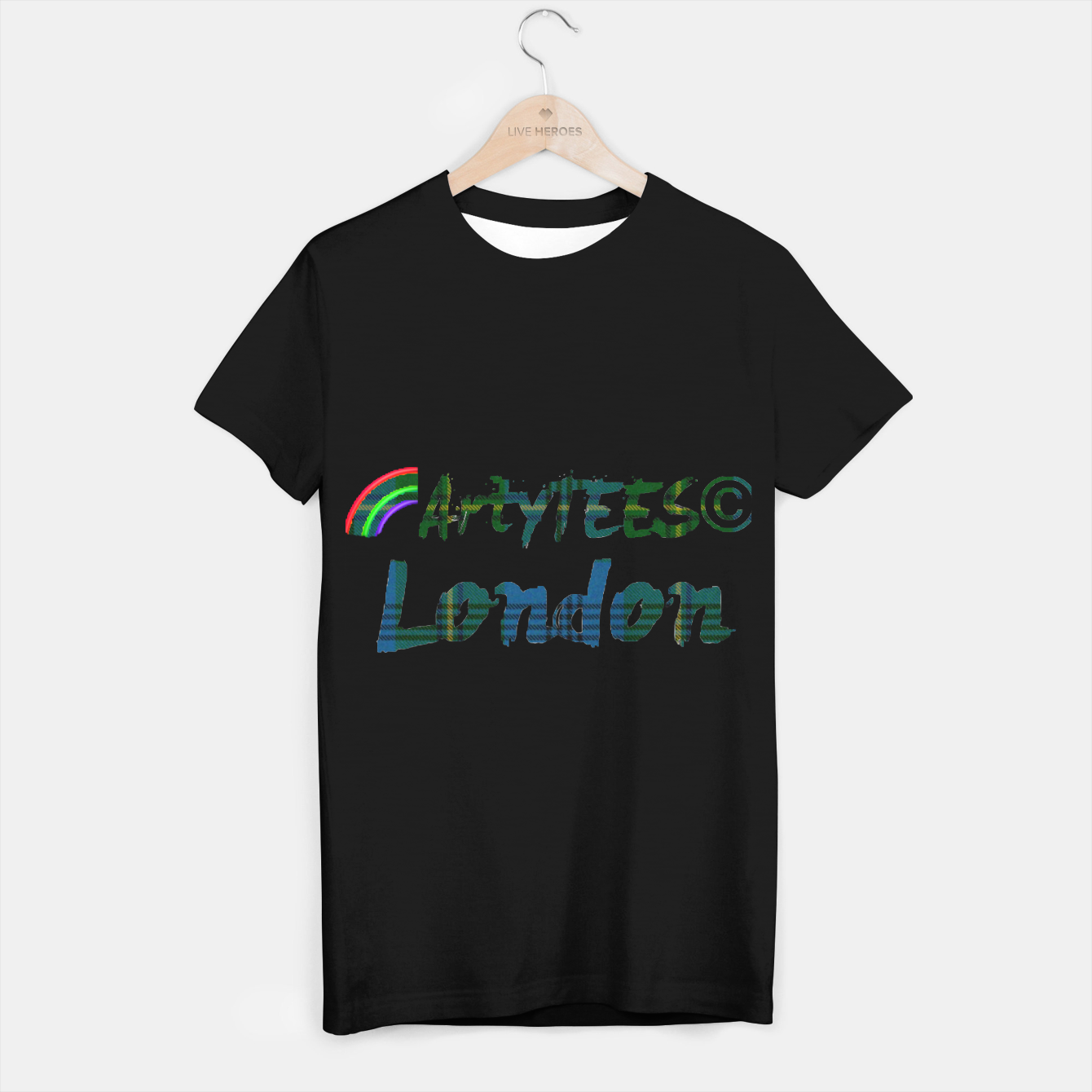Image of ArtyTEES Tartan T-shirt regular - Live Heroes