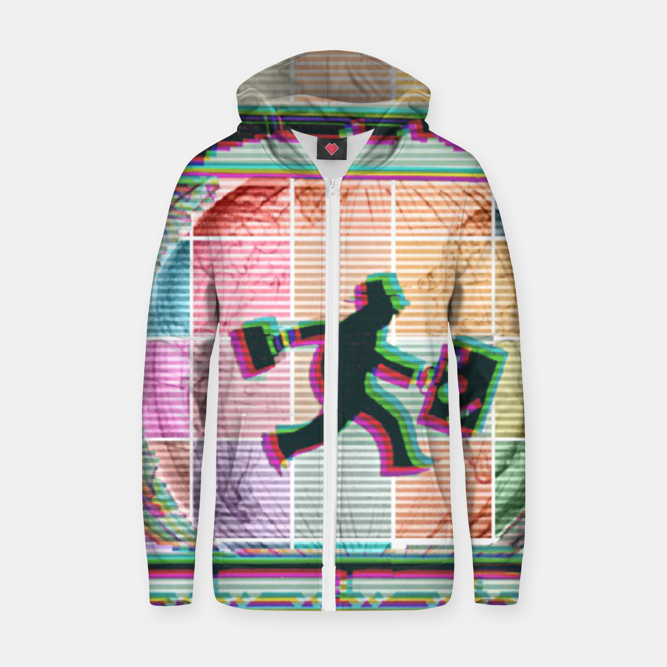 Image of Travelling Man  Cotton zip up hoodie - Live Heroes