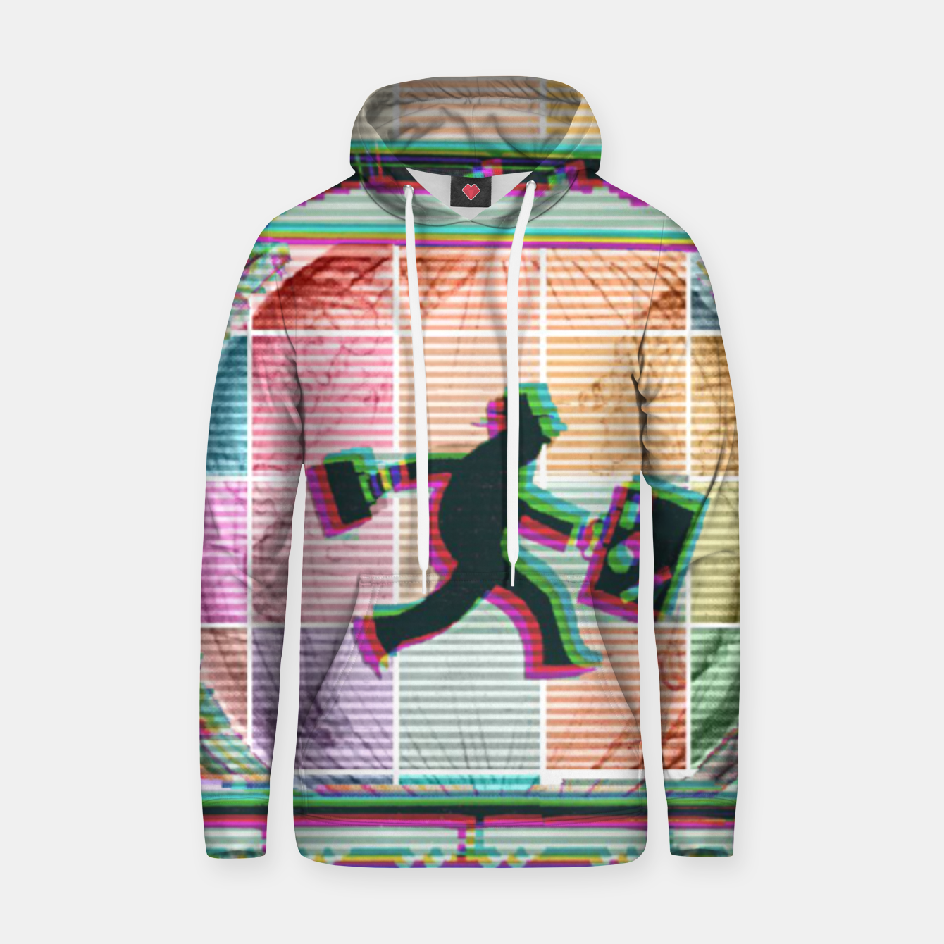 Image of Travelling Man  Cotton hoodie - Live Heroes