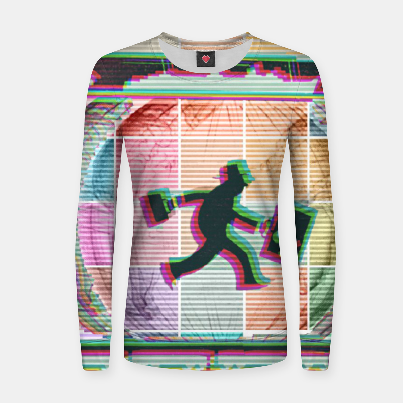 Image of Travelling Man  Woman cotton sweater - Live Heroes