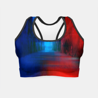 Thumbnail image of Abstract Photoart Crop Top, Live Heroes