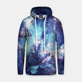 Miniature de image de Galaxy blue black Cotton hoodie, Live Heroes