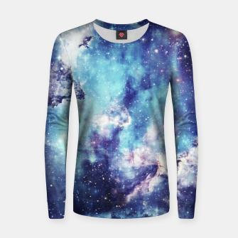 Miniaturka Galaxy blue black Woman cotton sweater, Live Heroes