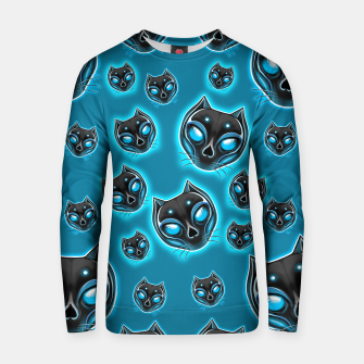 Thumbnail image of Cut Skull Black Cat Cotton sweater, Live Heroes