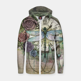 Thumbnail image of Time Flies Cotton zip up hoodie, Live Heroes
