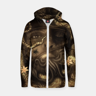 Thumbnail image of Rope Cotton zip up hoodie, Live Heroes