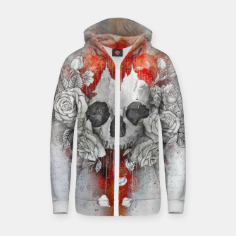 Thumbnail image of Let New life be Cotton zip up hoodie, Live Heroes