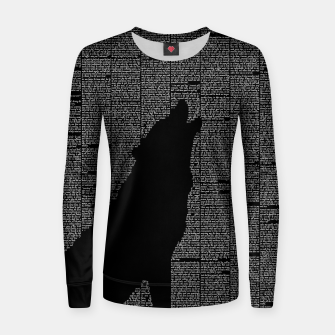 Thumbnail image of The Call of the Wild Woman cotton sweater, Live Heroes