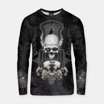 Thumbnail image of Awesome skull with wings Cotton sweater, Live Heroes