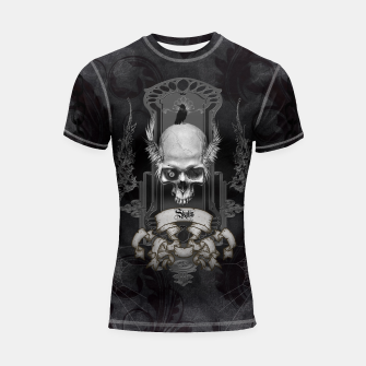 Miniature de image de Awesome skull with wings Shortsleeve rashguard, Live Heroes
