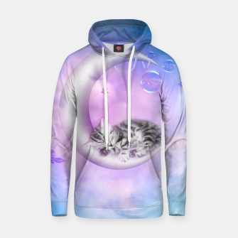 Thumbnail image of Cute little sleeping kitten Cotton hoodie, Live Heroes