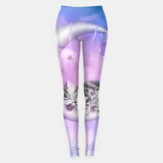 Thumbnail image of Cute little sleeping kitten Leggings, Live Heroes