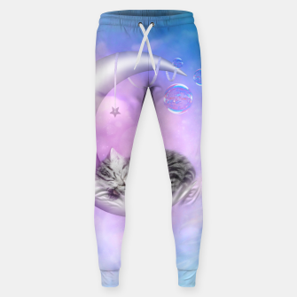 Thumbnail image of Cute little sleeping kitten Cotton sweatpants, Live Heroes
