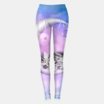 Cute little sleeping kitten Leggings thumbnail image