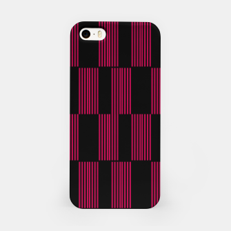 Thumbnail image of iPhone case, diagonal lines Pink on black, Live Heroes