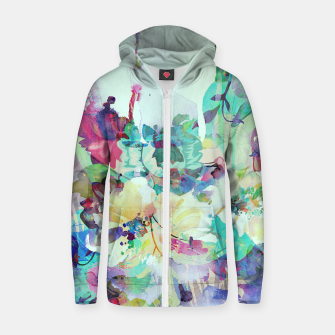 Teardrop Blues Cotton zip up hoodie thumbnail image