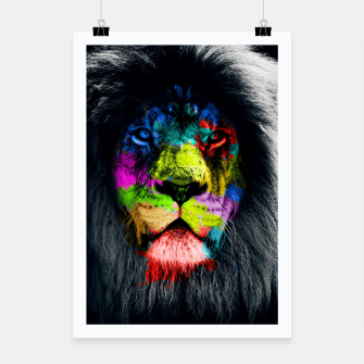 Miniatur Colorful Lion Plakat, Live Heroes