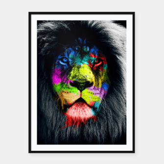 Thumbnail image of Colorful Lion Plakaty w ramie , Live Heroes