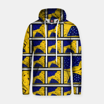 Thumbnail image of Pattern FOUR Original  Cotton hoodie, Live Heroes