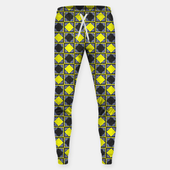 Thumbnail image of Black and Yellow Diamond Cotton sweatpants, Live Heroes