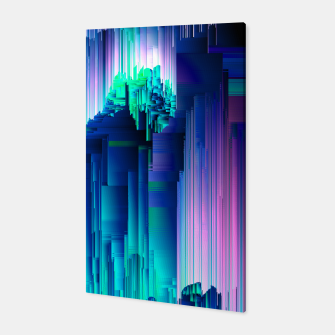 Miniaturka Glitches Be Trippin' - Abstract Pixel Art Canvas, Live Heroes