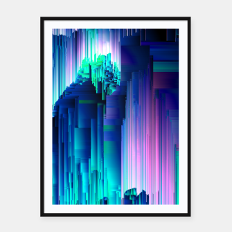 Miniaturka Glitches Be Trippin' - Abstract Pixel Art Framed poster, Live Heroes