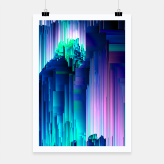 Miniaturka Glitches Be Trippin' - Abstract Pixel Art Poster, Live Heroes