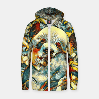 Miniature de image de AnimalArt_Panda_20170812_by_JAMColors Cotton zip up hoodie, Live Heroes