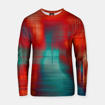 Thumbnail image of Abstract Photoart green red Baumwoll sweatshirt, Live Heroes