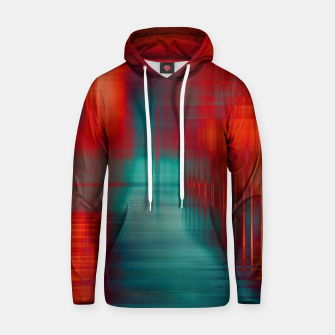 Thumbnail image of Abstract Photoart green red Baumwoll Kapuzenpullover, Live Heroes