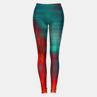 Thumbnail image of Abstract Photoart green red Leggings, Live Heroes