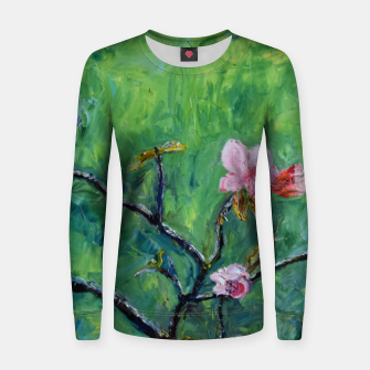 Thumbnail image of Spring Woman cotton sweater, Live Heroes