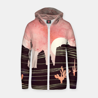 Thumbnail image of Rose Desert Cotton zip up hoodie, Live Heroes