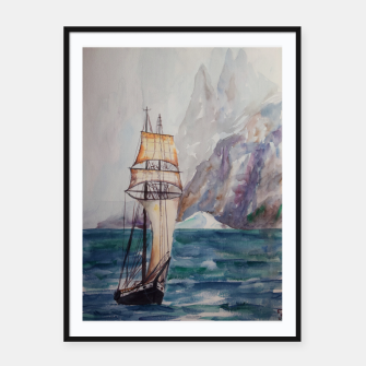Thumbnail image of Ship Framed poster, Live Heroes