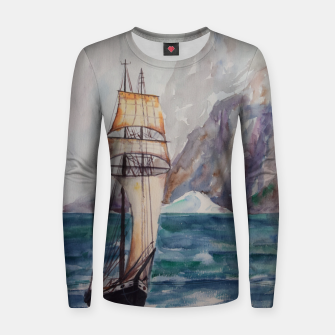 Thumbnail image of Ship Woman cotton sweater, Live Heroes