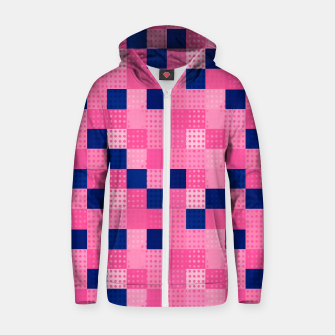 Thumbnail image of Cheerful Dotted chess - dense Cotton zip up hoodie, Live Heroes