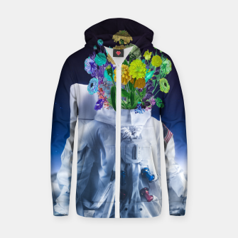 Space's flower Cotton zip up hoodie Bild der Miniatur